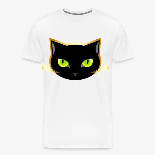 Das Schwarze Katzengesicht - Männer Premium T-Shirt