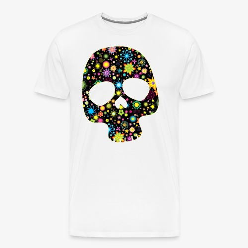 Bunter Totenkopf - Männer Premium T-Shirt
