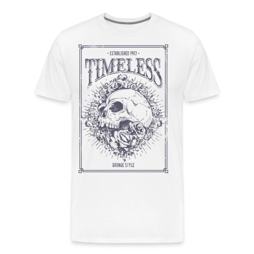 Grunge Punk Skull - Männer Premium T-Shirt