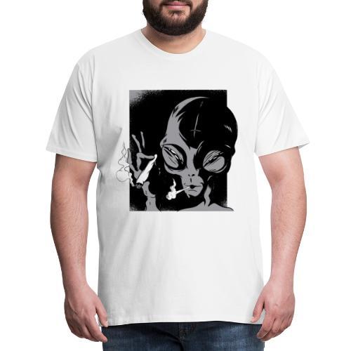 Kiffender Alien - Männer Premium T-Shirt