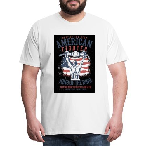 American Box Fighter Tshirt - Männer Premium T-Shirt