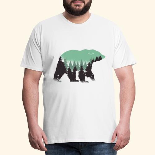 Wald im Bären Kostüm - Männer Premium T-Shirt