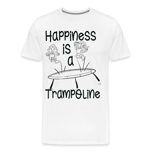 Happiness Is A Trampoline - Jumping Trampolin - Männer Premium T-Shirt