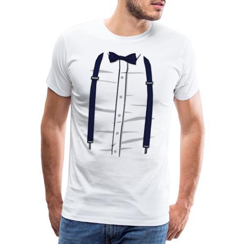 Hemd fliege Hosenträger - Männer Premium T-Shirt