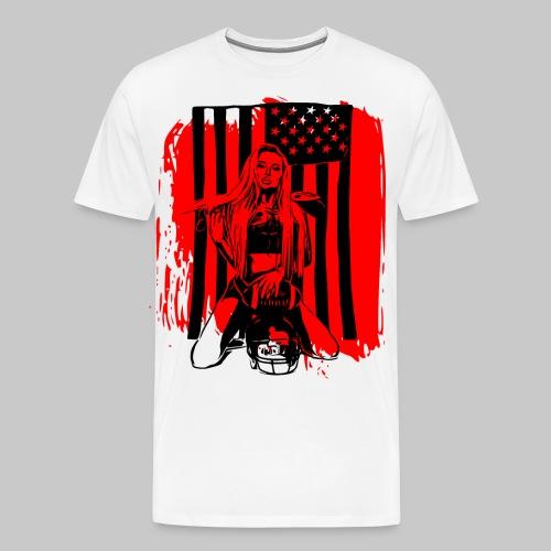 2reborn sexy american football game girl play bl - Männer Premium T-Shirt