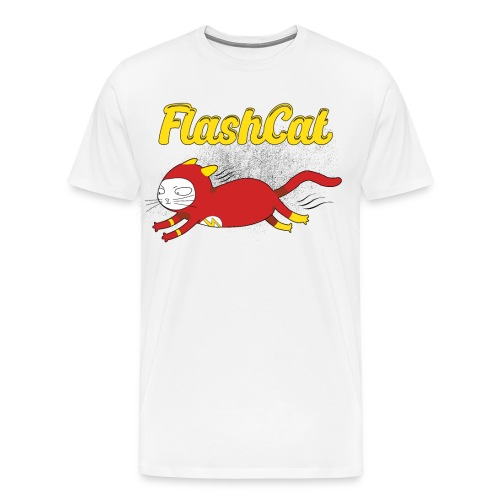 FlashCat Vintage Comic Katze Superheld - Männer Premium T-Shirt