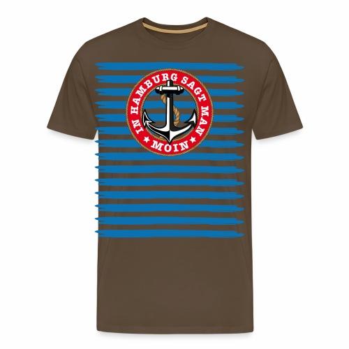 79 In Hamburg sagt man Moin Anker Seil - Männer Premium T-Shirt