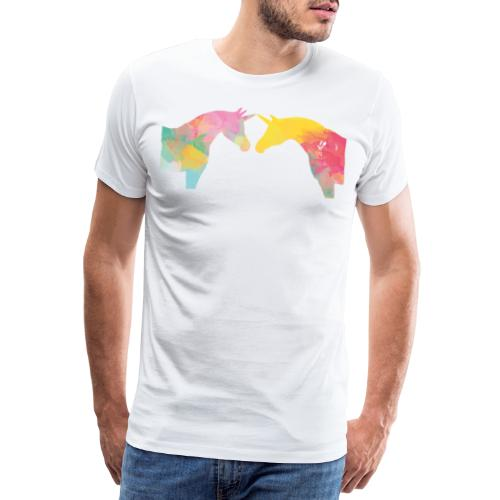 Unicorn Love - Miesten premium t-paita