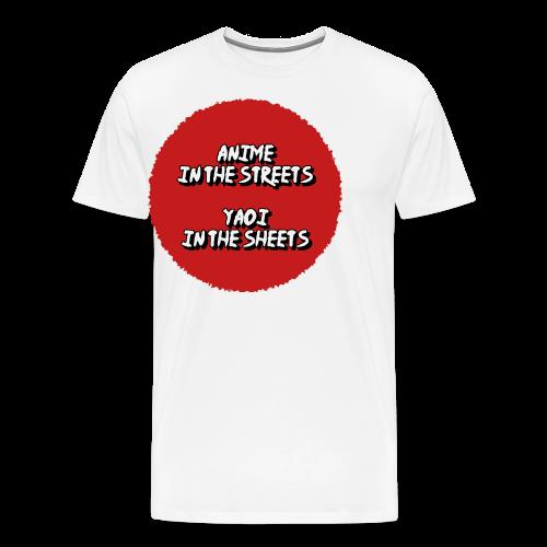 Yaoi in the streets! - Men's Premium T-Shirt