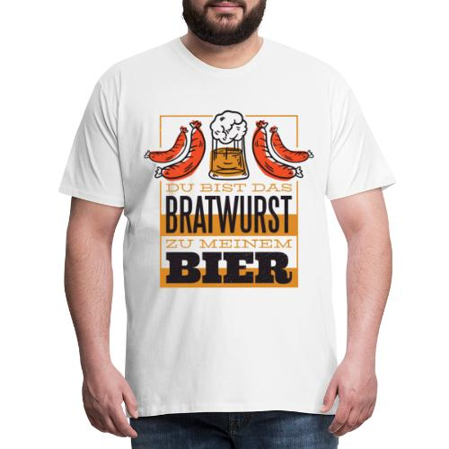 bratwurst und bier - Männer Premium T-Shirt