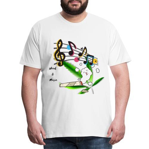 Weed Music - Männer Premium T-Shirt