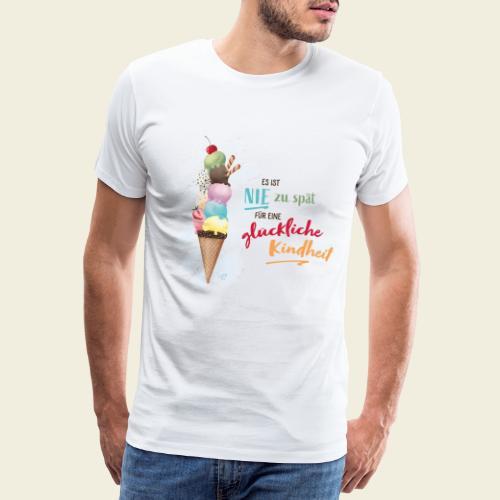 Eis - glückliche Kindheit - Männer Premium T-Shirt