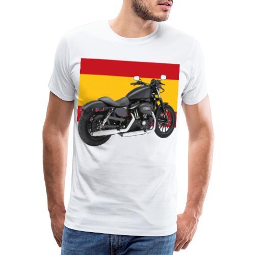 moto con la bandera de España - Camiseta premium hombre
