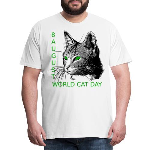 Gatto, 8 agosto la sua giornata mondiale - Maglietta Premium da uomo
