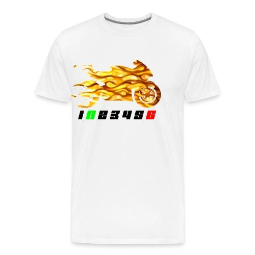 Mototrcycle flames - Men's Premium T-Shirt