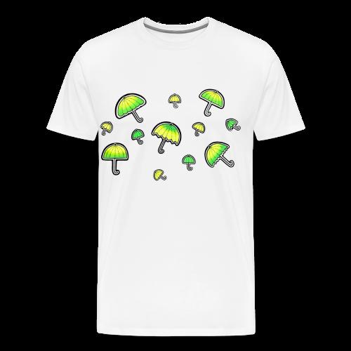 Neon Schirm - Männer Premium T-Shirt
