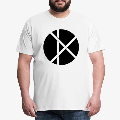 Don Logo - musta - Miesten premium t-paita
