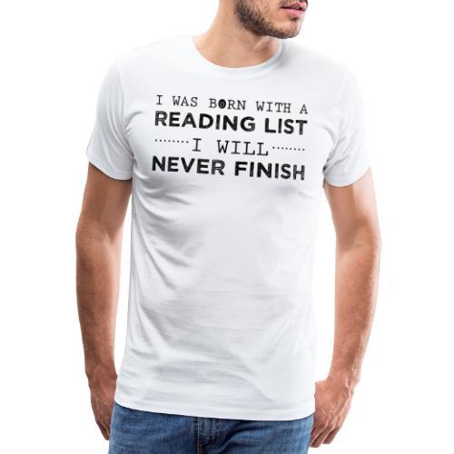 0193 Stapel ungelesener Bücher | Lesen | Leser - Men's Premium T-Shirt