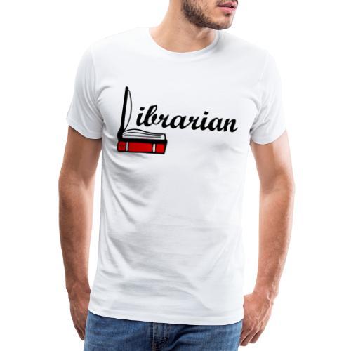 0324 Librarian Librarian Library Book - Men's Premium T-Shirt