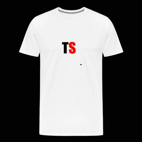 TS Shirt Mannen Zwart/Rood logo - Mannen Premium T-shirt