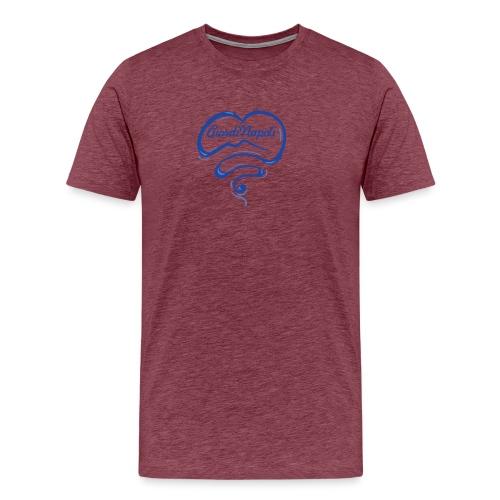 New Logo CuordiNapoli Blu - Maglietta Premium da uomo