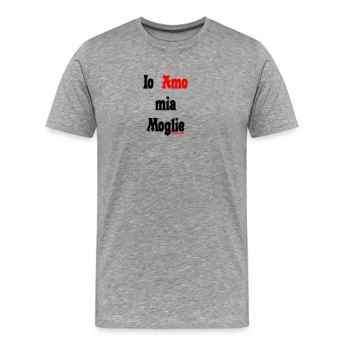 Amore #FRASIMTIME - Maglietta Premium da uomo