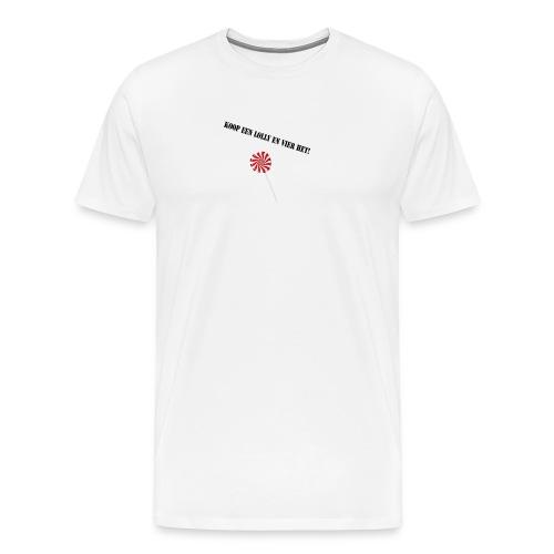 Kioop_een_lolly_en_vier_het - Mannen Premium T-shirt