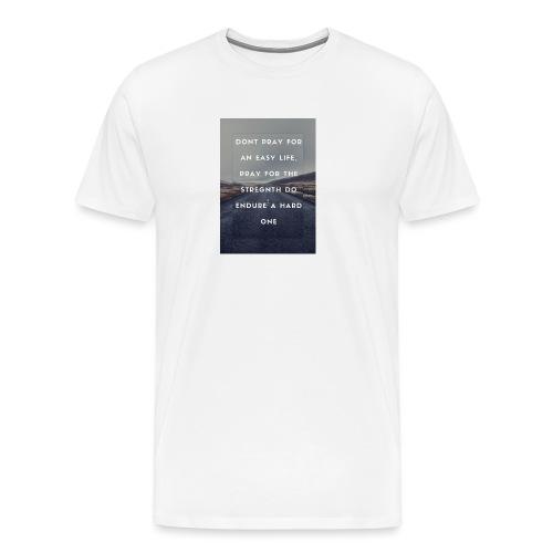 bruce lee quote - Premium-T-shirt herr