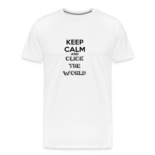 BORSA TESSUTO KEEP CALM AND CLICK THE WORLD - Maglietta Premium da uomo