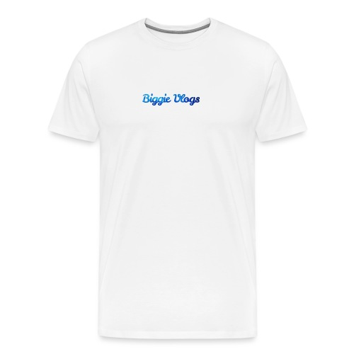 blue BiggieVLogs Kids tshirt - Men's Premium T-Shirt