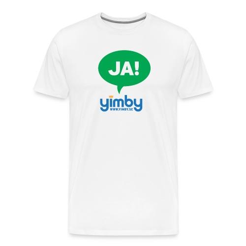 ja green - Premium-T-shirt herr