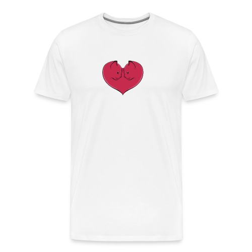 chat coeur - T-shirt Premium Homme