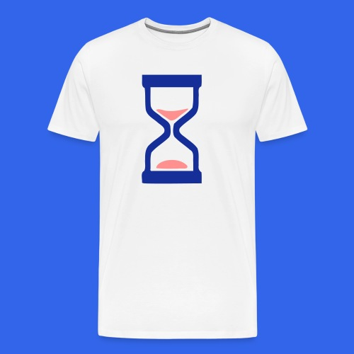 ⏳ ✦°•Hourglass-Sandglass vector design - Men's Premium T-Shirt