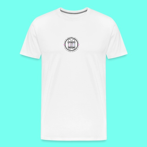 Black Pause Circular Logo - Men's Premium T-Shirt