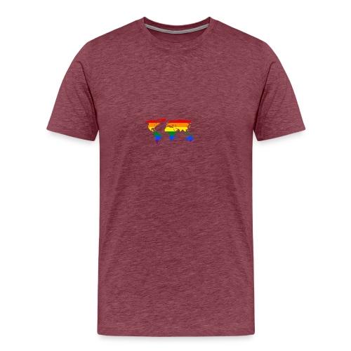 HBTQ WORLD - Premium-T-shirt herr
