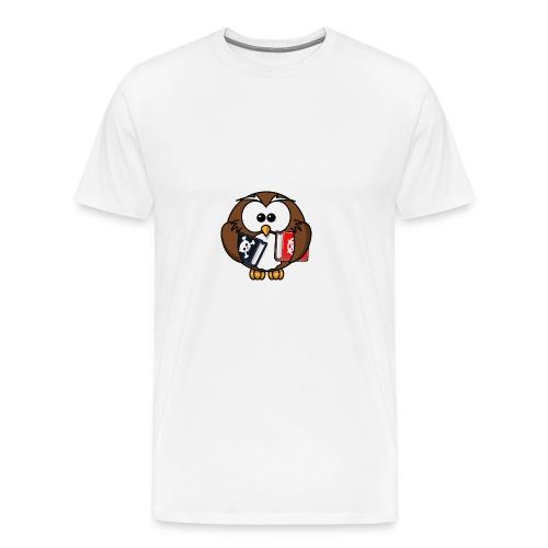 Lerning Owl - Männer Premium T-Shirt