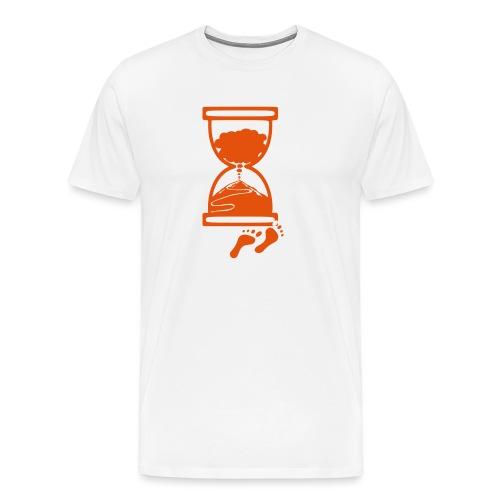 Tracciato logo facciotardi vettoriale con sfondo - Maglietta Premium da uomo