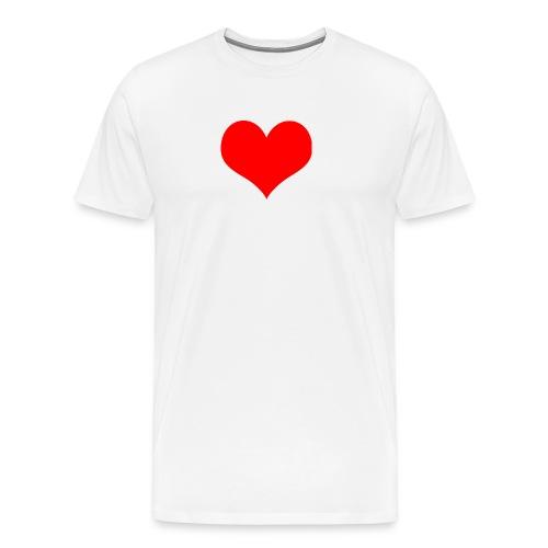 rotes Herz - Männer Premium T-Shirt