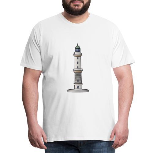 Leuchtturm Warnemünde Rostock c - Männer Premium T-Shirt
