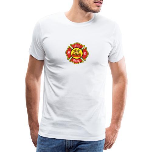 Feuerwehrschild-Fire-Dept - Männer Premium T-Shirt