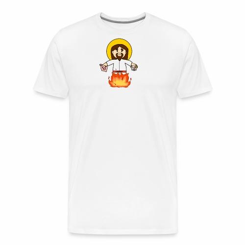 GesùOnFire - Maglietta Premium da uomo