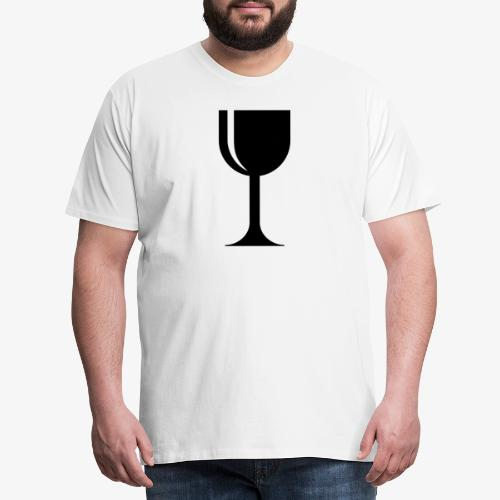 Weinglas - Männer Premium T-Shirt