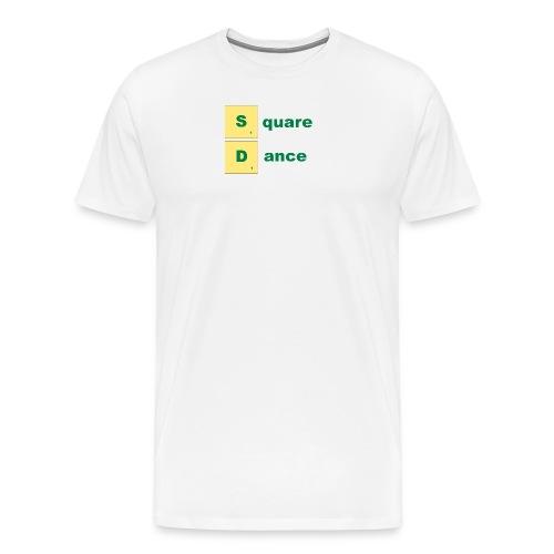 square dance scabble - Männer Premium T-Shirt