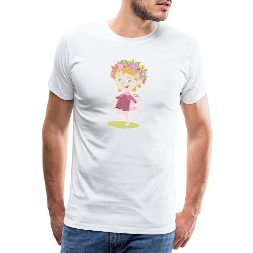 Danser sous le soleil de minuit en Finlande - T-shirt Premium Homme