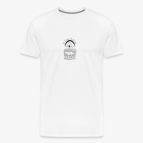 Donjon Cyclops Black Logo Print - Men's Premium T-Shirt