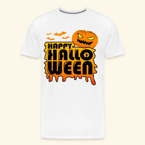schauriger Kürbis Happy Halloween - Männer Premium T-Shirt