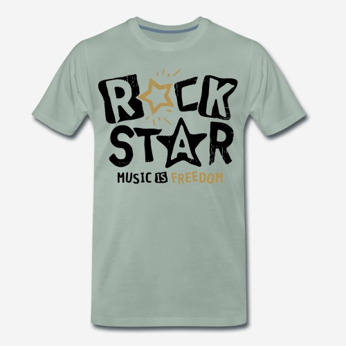 rock star music freedom - Männer Premium T-Shirt