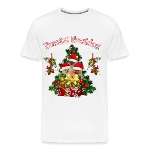 Pomeranian Weihnachten Shirt und Accessoires - Männer Premium T-Shirt