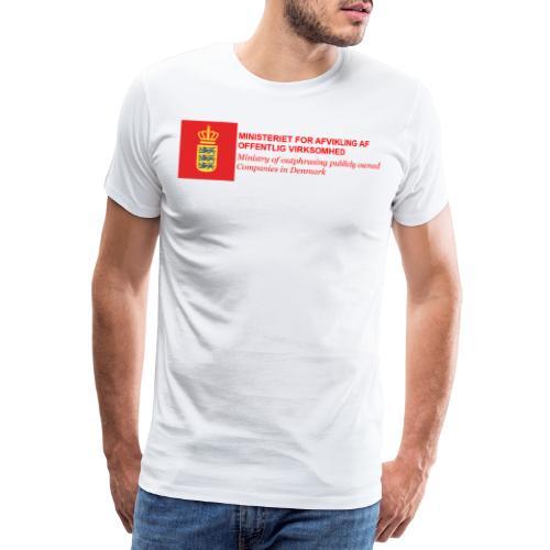 MINISTERIET FOR AFVIKLING AF OFFENTLIG VIRKSOMHED - Herre premium T-shirt