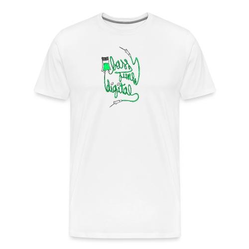 BASS JUNK DIGITAL ZIPPED HOODIE - Mannen Premium T-shirt